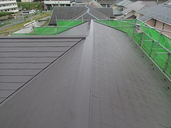 屋根の塗装だけでここまで変わるのかと実感しております。丁寧な対応ありがとうございました。